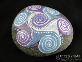 Painted Mandala Pebble