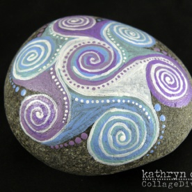 Painted Mandala Pebble