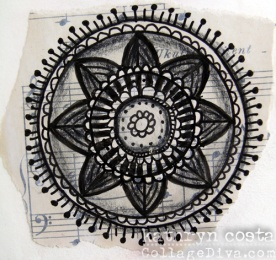 Mandala on Music Paper