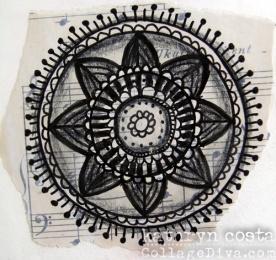 Mandala on Music Paper