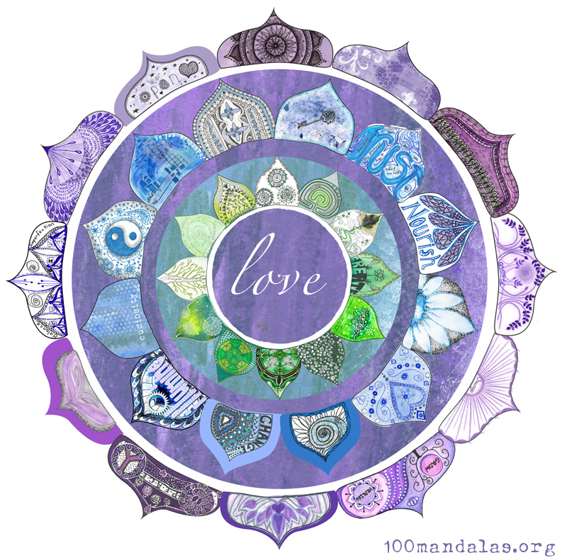 Positive Intention Lotus Mandala