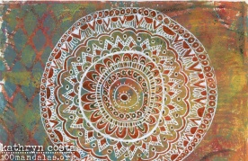 Gelli Plate Mandala