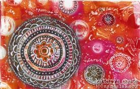 Gelli Plate Mandalas