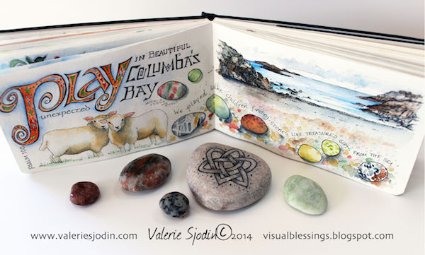 4. Iona journal page, rocks-Valerie Sjodin