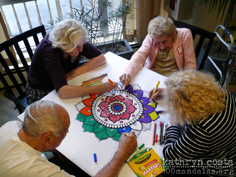 - Coloring Supersized Mandalas With Seniors How To Draw Mandalas And The  100 Mandalas Challenge With Kathryn Costa