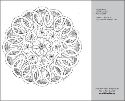 Free Mandala Coloring Book   How to Draw Mandalas and the 100 ...