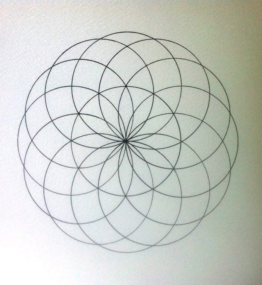 Sacred Geometry U2013 How To Draw Torus | How To Draw Mandalas And The 100 Mandalas Challenge With ...