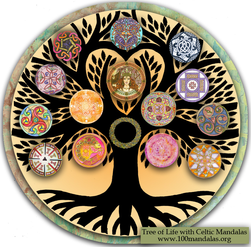 Celtic Tree Of Life Community Mandala Project How To