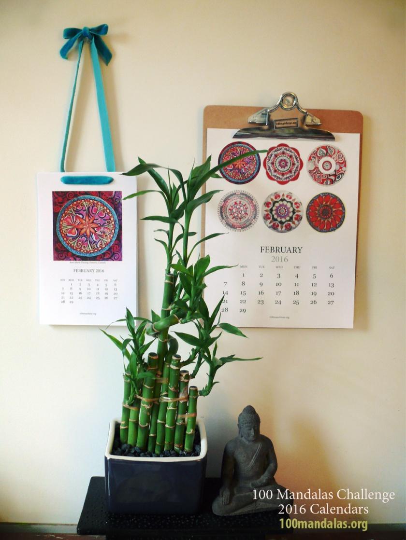 2016 Mandala Printable Calendar