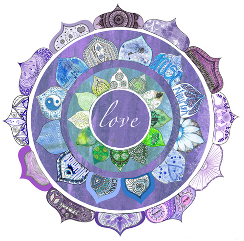 Community Mandala Lotus Intentions