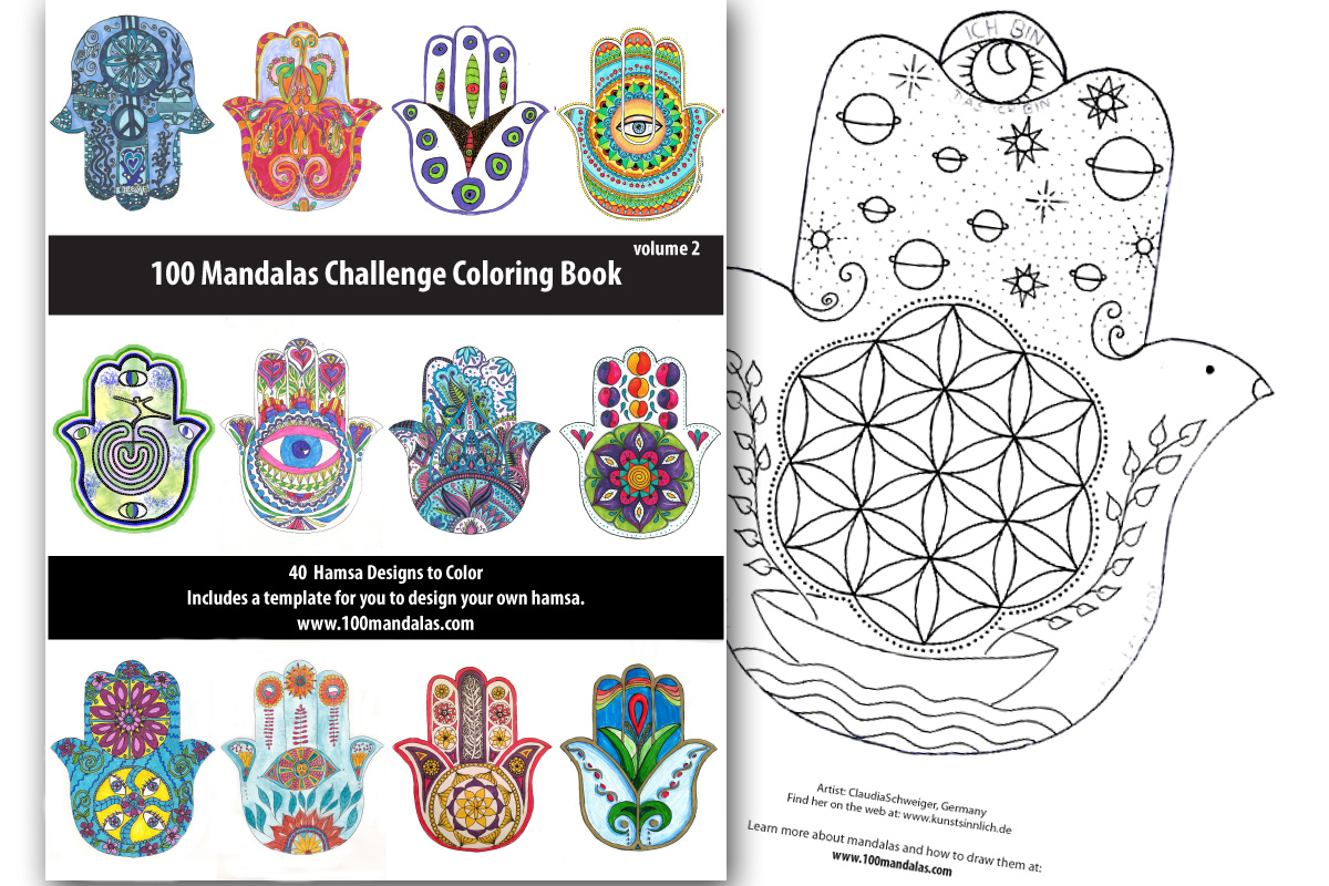 Hamsa Coloring Book How To Draw Mandalas And The 100 Mandalas Challenge  With Kathryn Costa