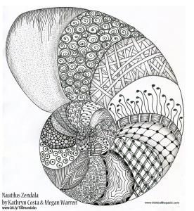 Nautilus Zen Doodle Mandala