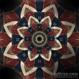 Bowling Shoe Kaleidoscope Mandala
