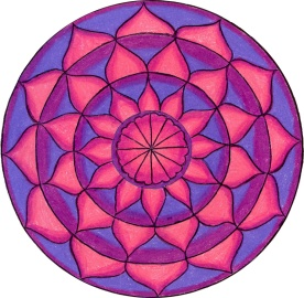 Purple and Pink Lotus Mandala