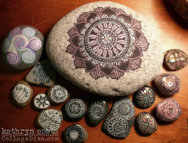 Rock and Pebble Mandalas