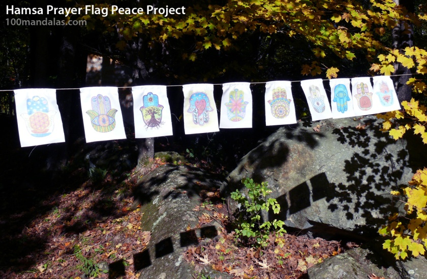 Hamsa Prayer Flag Peace Project