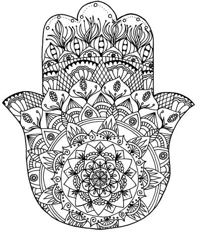 hamsa eye coloring pages - photo#16