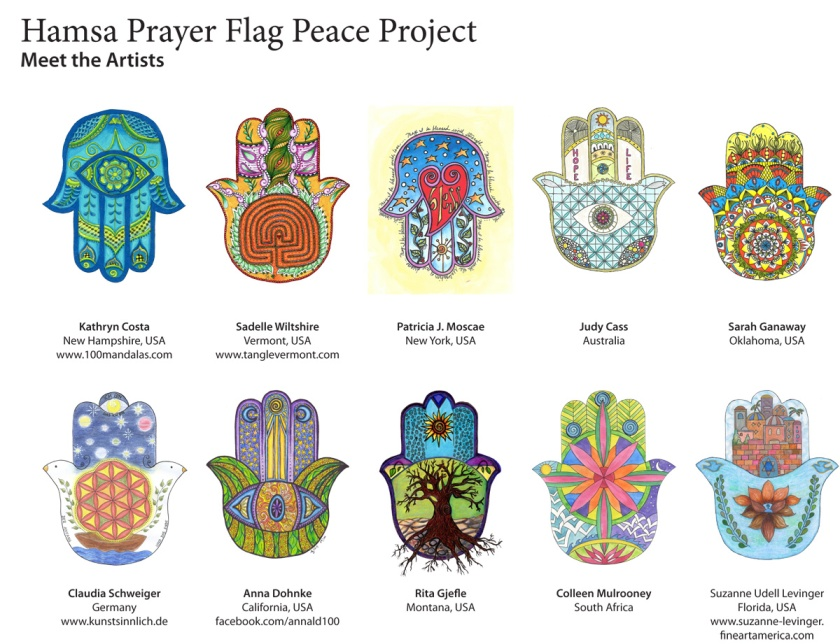 Hamsa Prayer Flag Artists