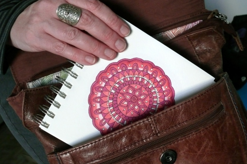 mandala travel journal on the go