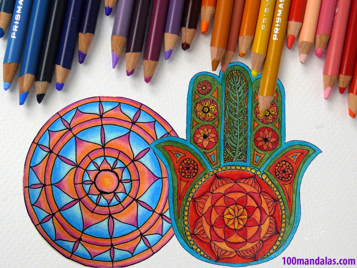 How To Color Mandalas Using Colored Pencils How To Draw