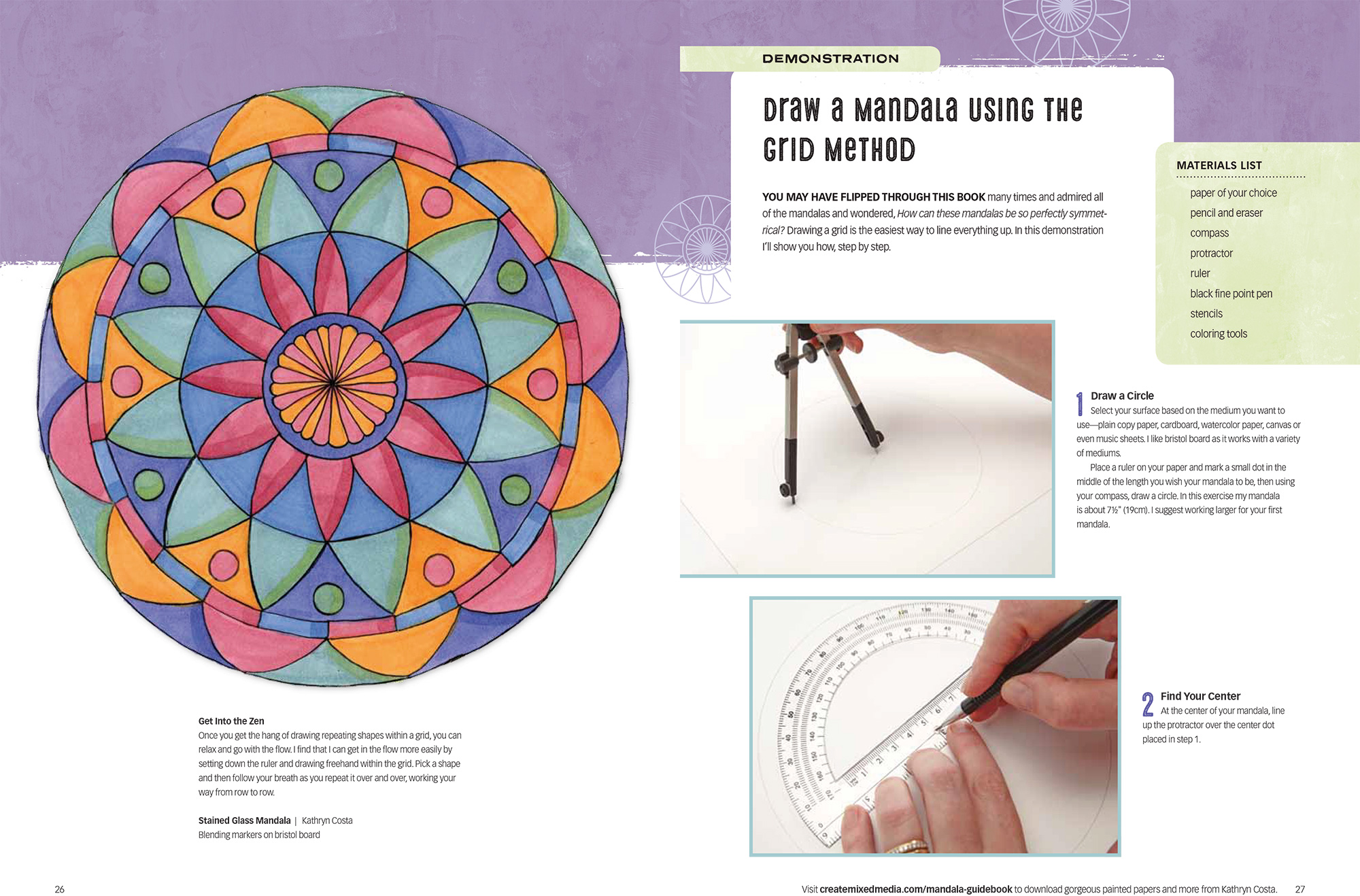 The Mandala Guidebook: How To Draw, Paint, and Color