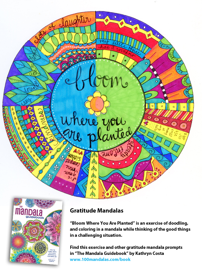 A Gratitude Mandala Exercise For Those Challenging Times How To - Mandalas-en-color