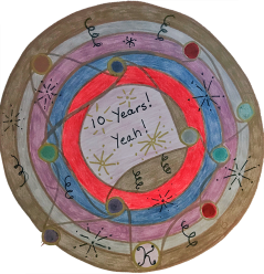 Congratulations on ten great years, Kathryn. I have learned so much from you about the healing power of art and of mandalas in particular. Thank you with all my heart. ~ Anne Agee, Maryland, USA