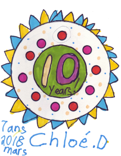 This was created by our youngest member who just turned eight! ~ Cholé Dale, Ontario, Canada