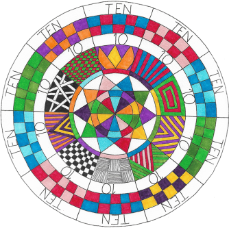 Years ago, if someone were to ask me if I was an artist, I would have laughed. Here I am making my own mandalas. This is the inspiration Kathryn and the rest of the Sharing Circle) have given me. ~ Steve Kozak, Ohio, USA