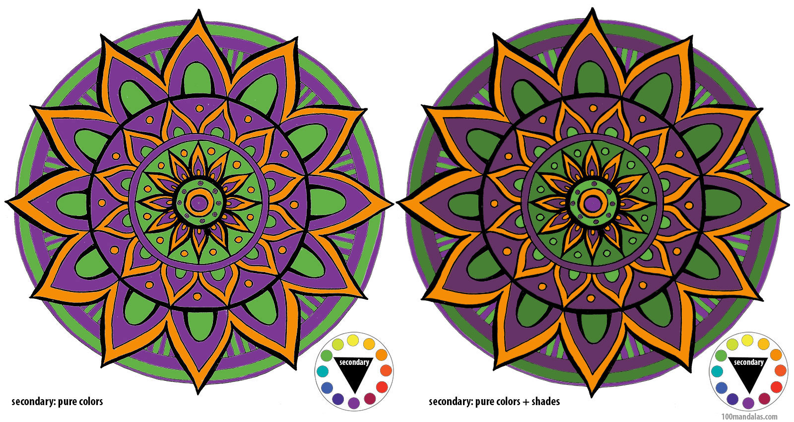 Coloring Mandalas How To Choose Colors To Create Color Harmony How To Draw Mandalas And The 100 Mandalas Challenge With Kathryn Costa