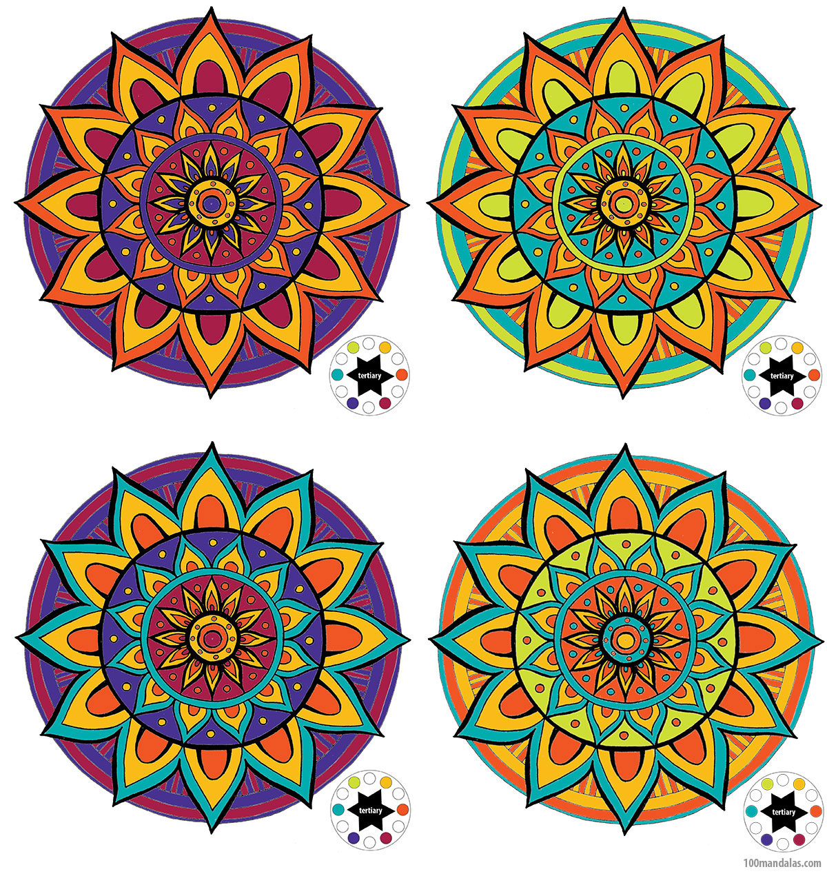 - Coloring Mandalas – How To Choose Colors To Create Color Harmony