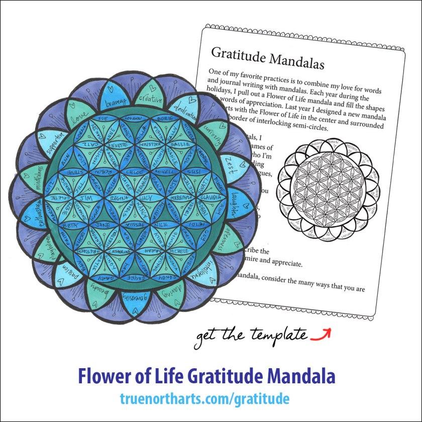 Seed of Life Gratitude Mandala   How to Draw Mandalas and the 100