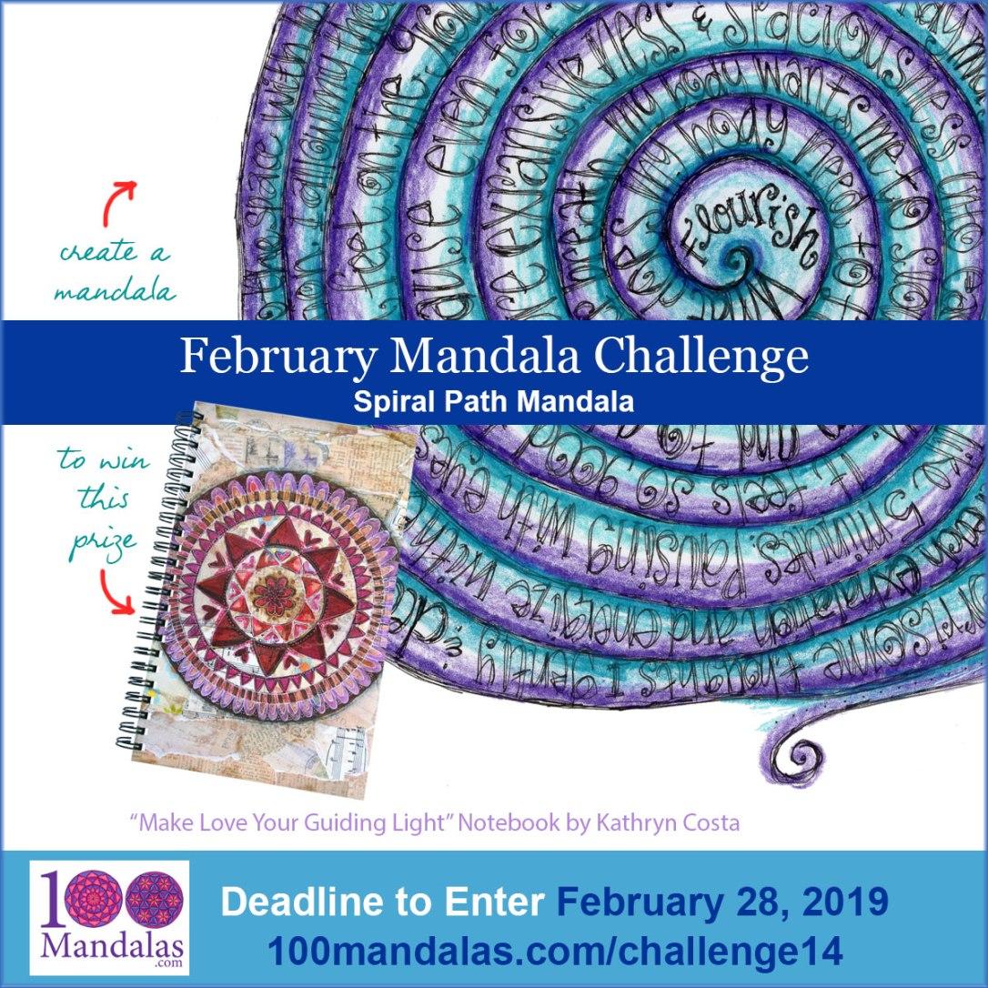 February Mandala Challenge - Spiral Path Mandalas