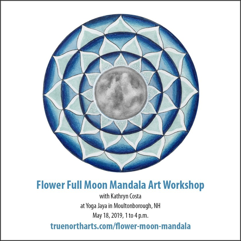 Flower Full Moon Mandala Art Workshop