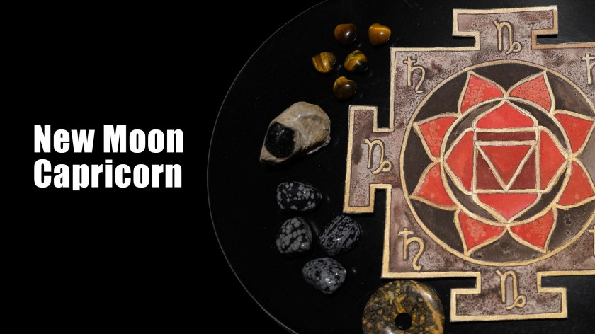 Capricorn New Moon Mandala Set Intentions Crystal Grid