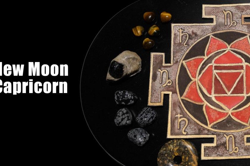 Capricorn New Moon Mandala Set Intentions Crystal Grid